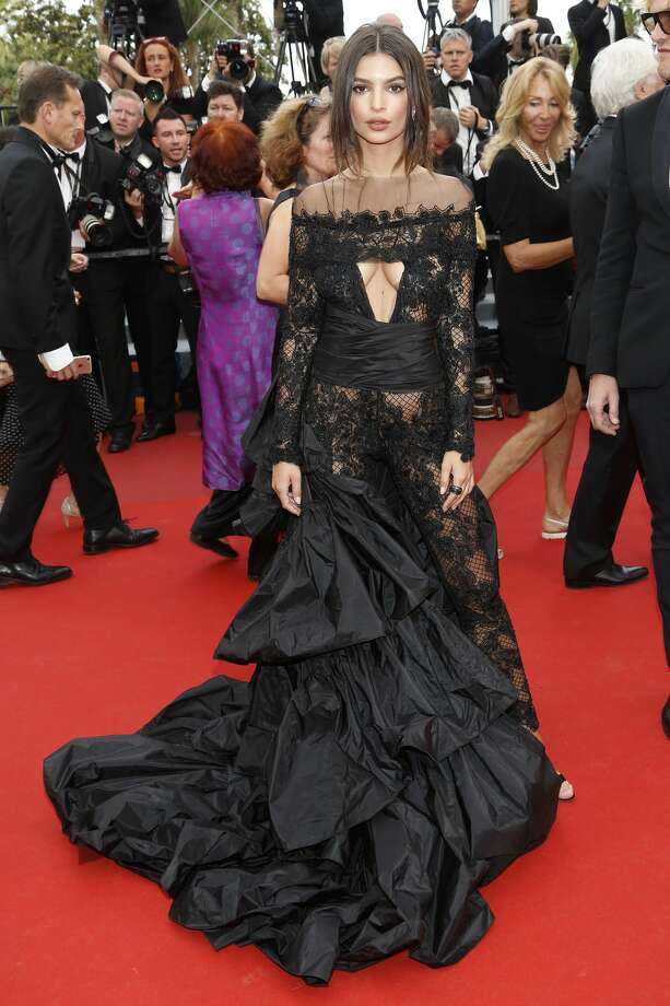 """Emily Ratajkowski   at the """"Nelyubov"""" premiere during the 70th Cannes Film Festival at the Palais des Festivals on May 18, 2017 in Cannes, France. Photo: Barcroft Media/Barcroft Media Via Getty Images"""