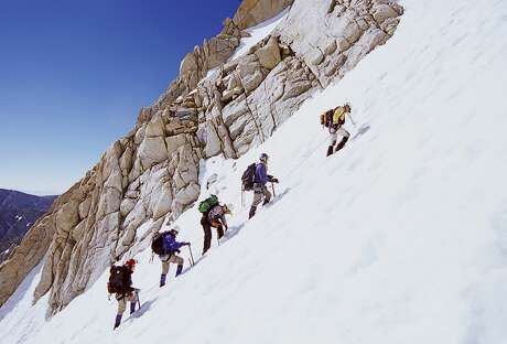 When Mount Whitney is snow free, it's a non-technical hike that anyone who is physically fit and who has done some acclimation can do. But when Whitney is covered in snow, it's a technical mountaineering route that requires special skills and equipment Photo: Tony Rowell/Getty Images