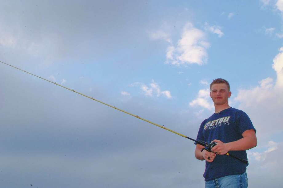 college hooks clear falls grad with bass fishing