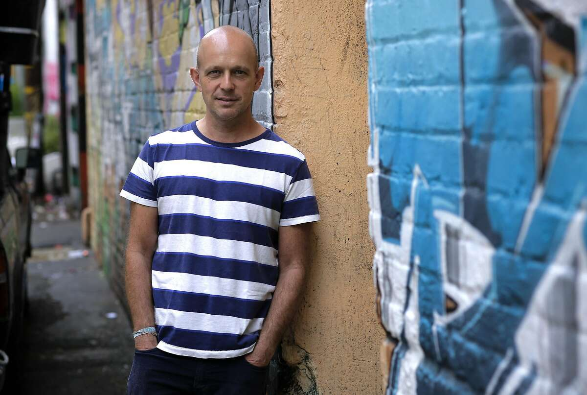 """CEO Steve Hilton near the offices of Crowdpac, the firm he co-founded in San Francisco. Hilton is the host of """"The Next Revolution"""" premiering on the Fox news channel."""