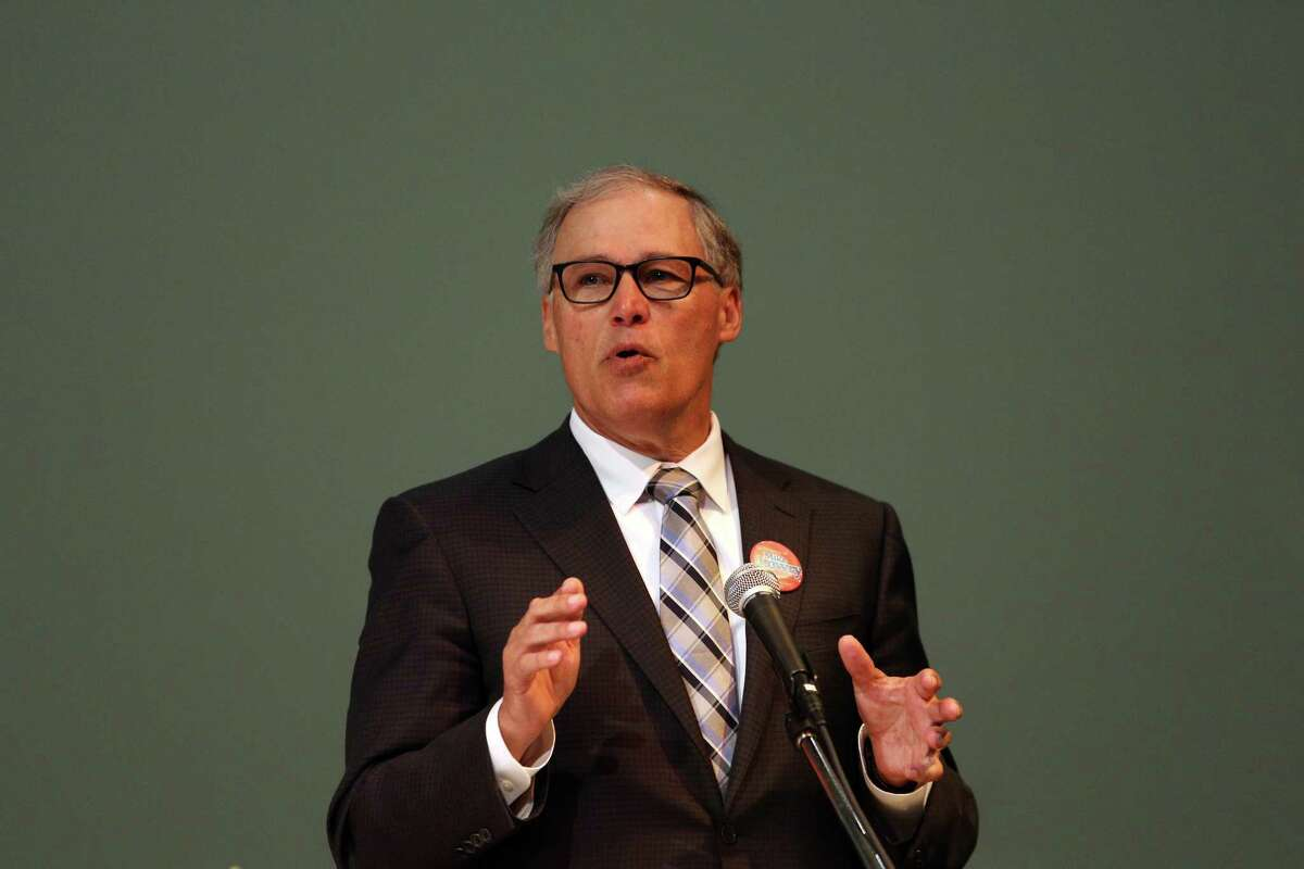Governor Jay Inslee is co-chair of the U.S. Climate Alliance.  He is critical of planned Canadian pipeline, which would send 34 tankers a month through international waters of the Salish Sea shared by Washington and British Columbia.