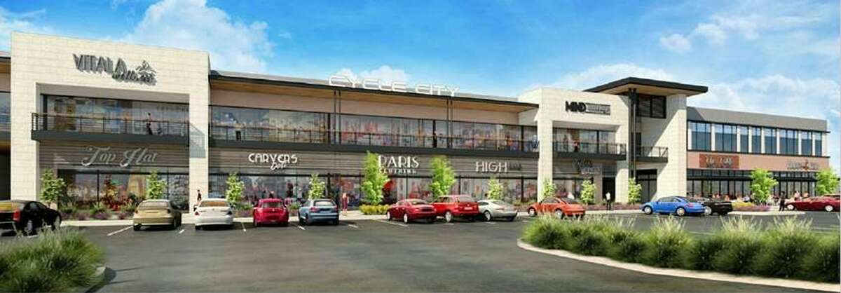Service retailers and office space will be above first-floor restaurants and shops.