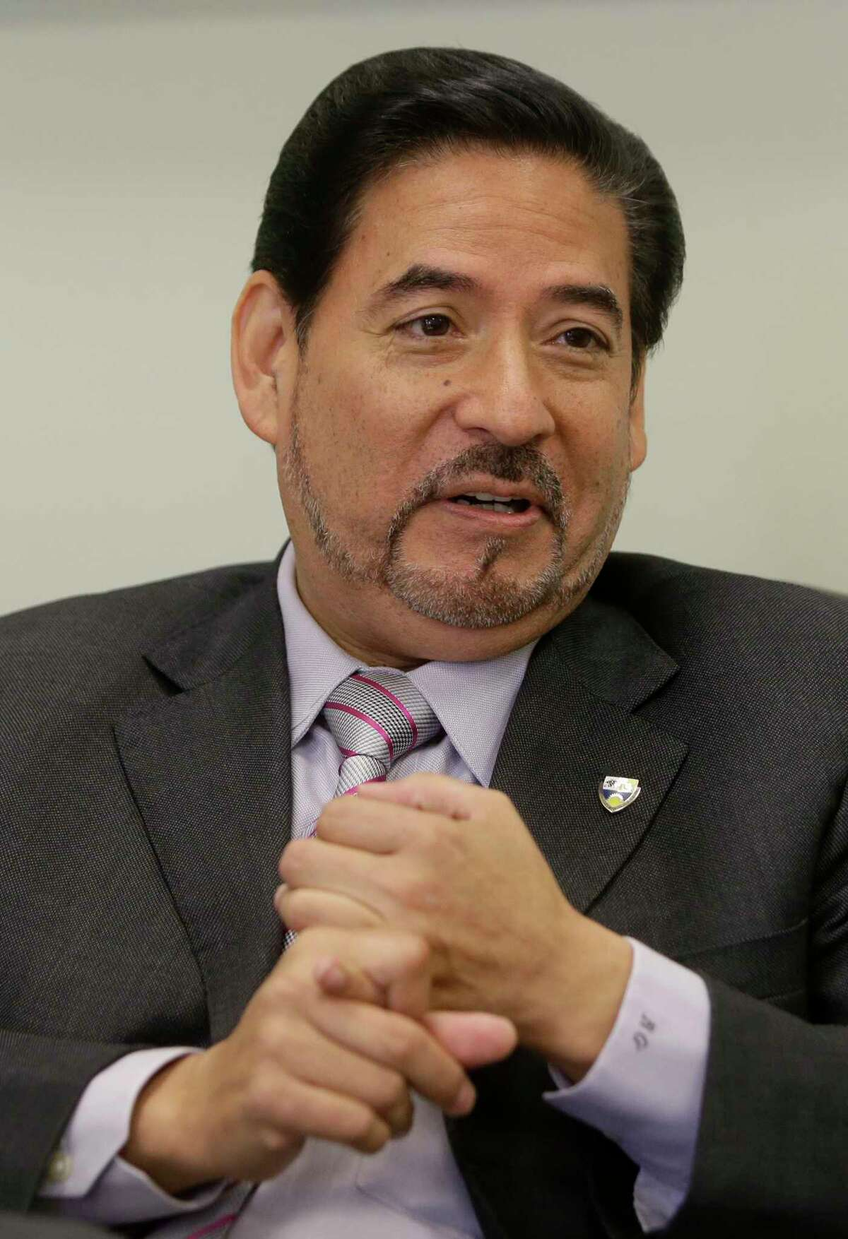 Richard Garza, CEO and superintendent of Houston Gateway Academy, shown here in April 2017 file photo. ( Melissa Phillip / Houston Chronicle )