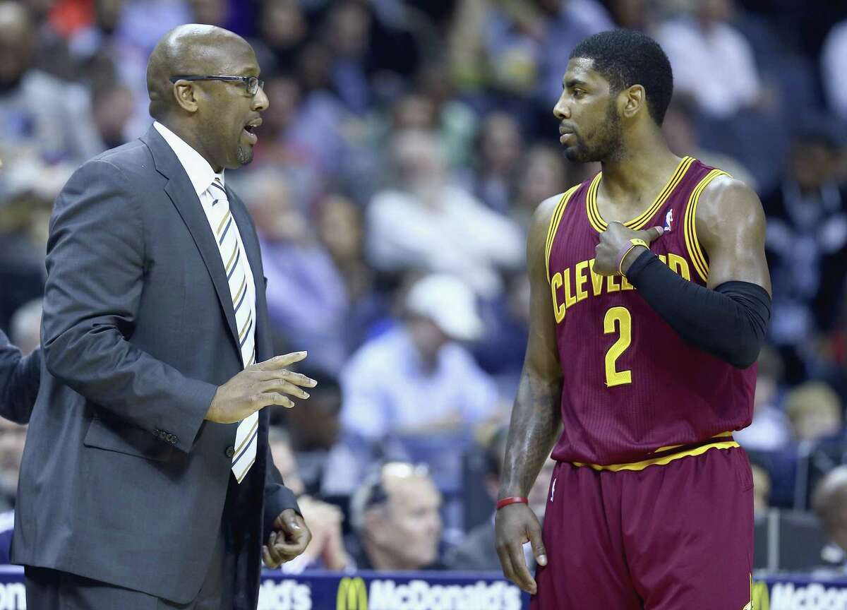 Kyrie Irving is one of three players - along with LeBron James and Tristan Thompson - still on the Cleveland roster who played for then-coach Mike Brown.