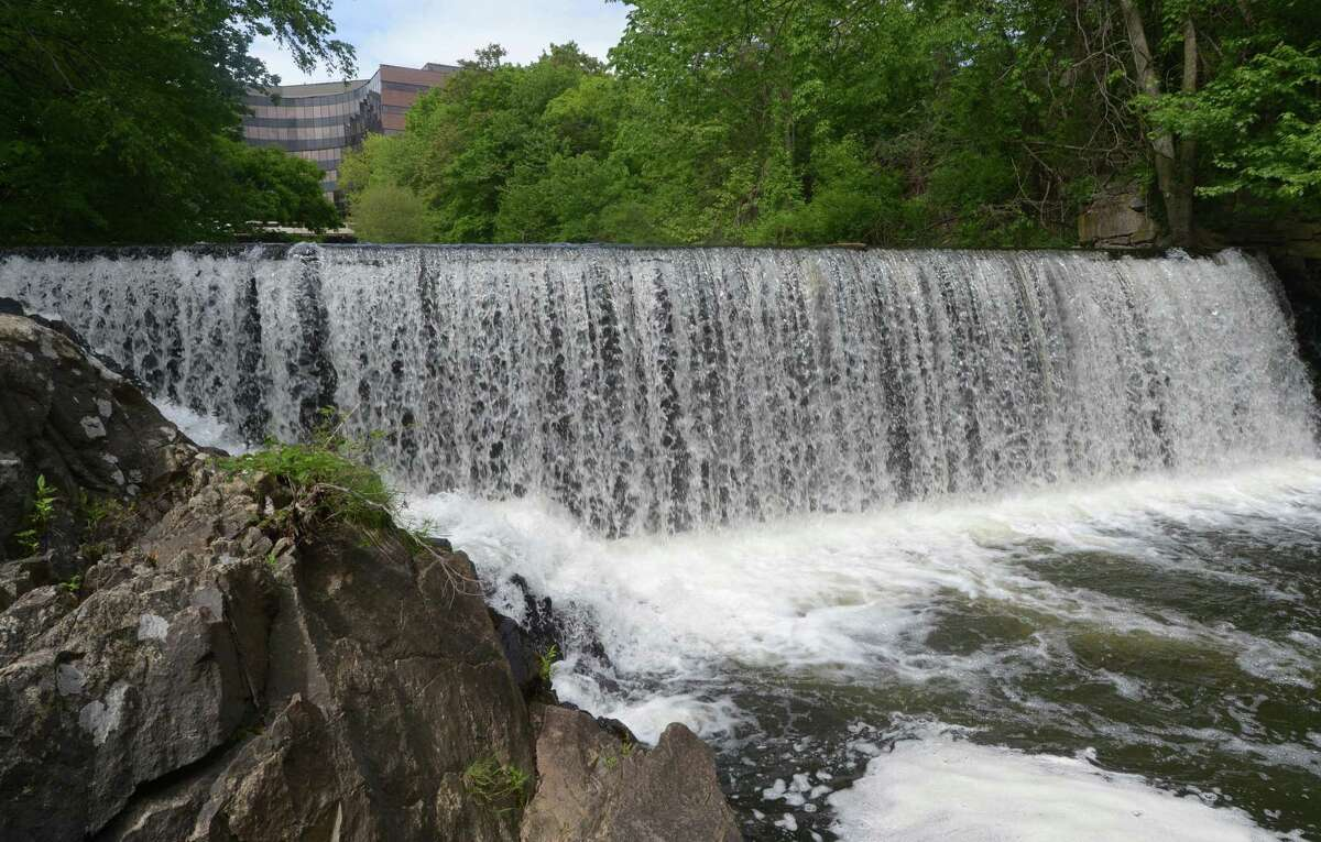 The Flock Process Dam on the Norwalk River. The long-planned removal of the Flock Process Dam could begin this year.