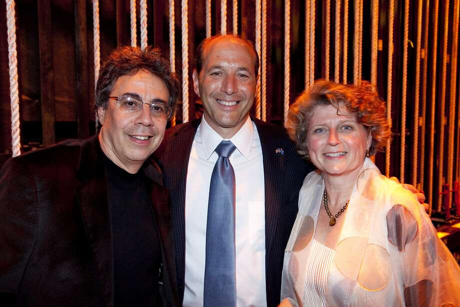 Jeff Bleich, center, with Tony Taccone with Susie Medak of Berkeley Repertory Theater in 2010. Photo: Cheshire Isaacs, Special To The Chronicle