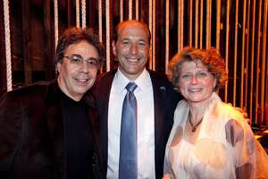 Tony Taccone (left) with Jeff Bleich, US Ambassador to Australia and Susie Medak / By Cheshire Isaacs. April 2010.
