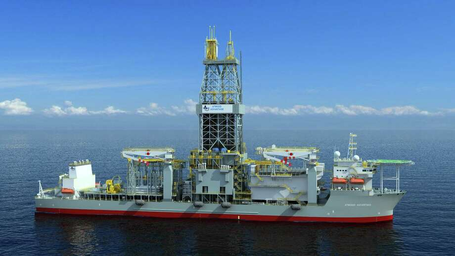 One of the drillships for Atwood Oceanics is the Atwood Advantage. Atwood has continued to bring in enough money to stay afloat by reaping revenues from contracts signed before the oil bust and by dramatically cutting costs and idling rigs. / Atwood Oceanics