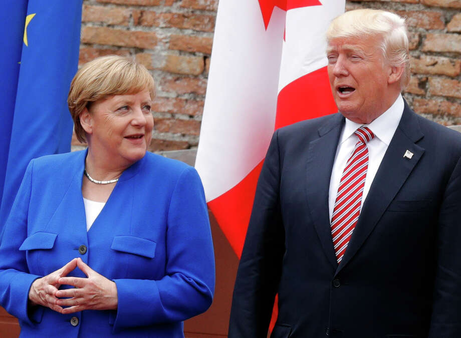 There is little rapport between Germany's brainy, button-down Chancellor Angela Merkel and President Donald Trump. Photo: PHILIPPE WOJAZER, Stringer / AFP