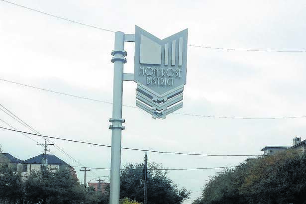 This 1940s art-deco style marquee is from the Montrose Management District