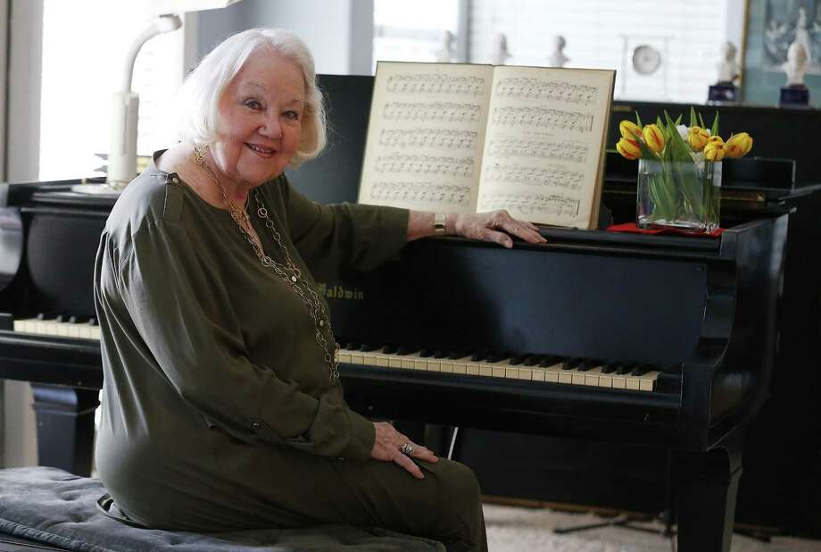 In 1936, little Virginia Kane won an award for her musical performance at the Tuesday Musical Club. The booklet she received was signed with an inscription from Anna Hertzberg, the founder of the organization which is now more than 100 years old. Virginia Kane is 91 and has lots of memoabilia. Photo: Kin Man Hui /San Antonio Express-News / ©2017 San Antonio Express-News