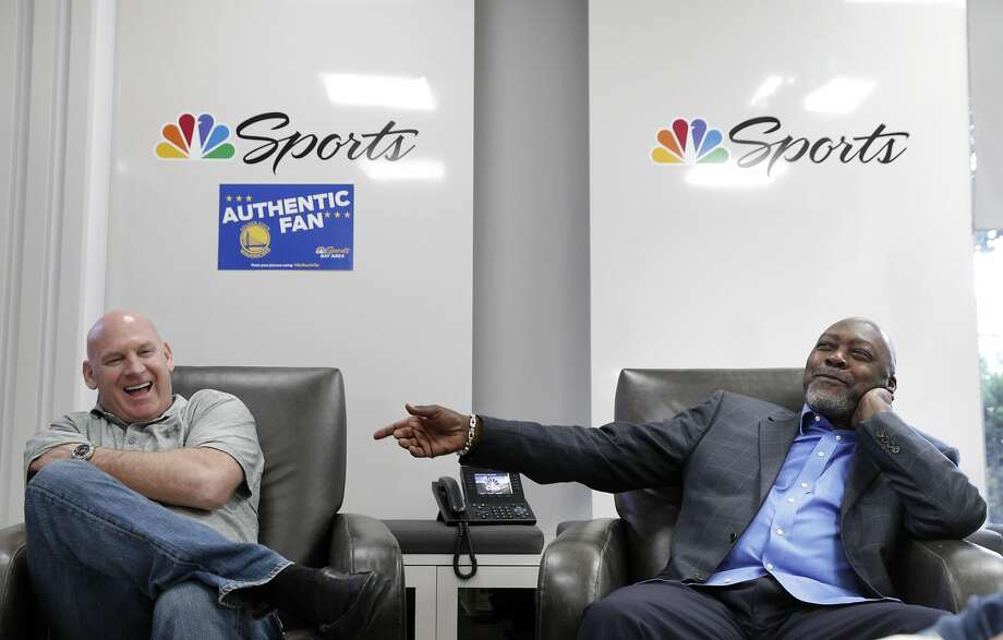 Former Oakland Athletics pitcher Dave Stewart and former San Francisco Giant Matt Williams are in their first year doing A's and Giants analysis for the Bay Area's NBC Sports outlets. Photo: Carlos Avila Gonzalez, The Chronicle