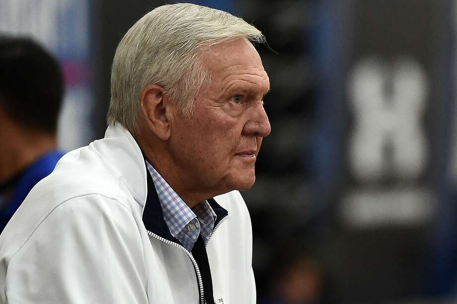 NBA Hall of Famer and former executive board member of the Golden State Warriors Jerry West watches action during Day Two of the NBA Draft Combine at Quest MultiSport Complex on May 12, 2017 in Chicago, Illinois. Photo: Stacy Revere, Getty Images
