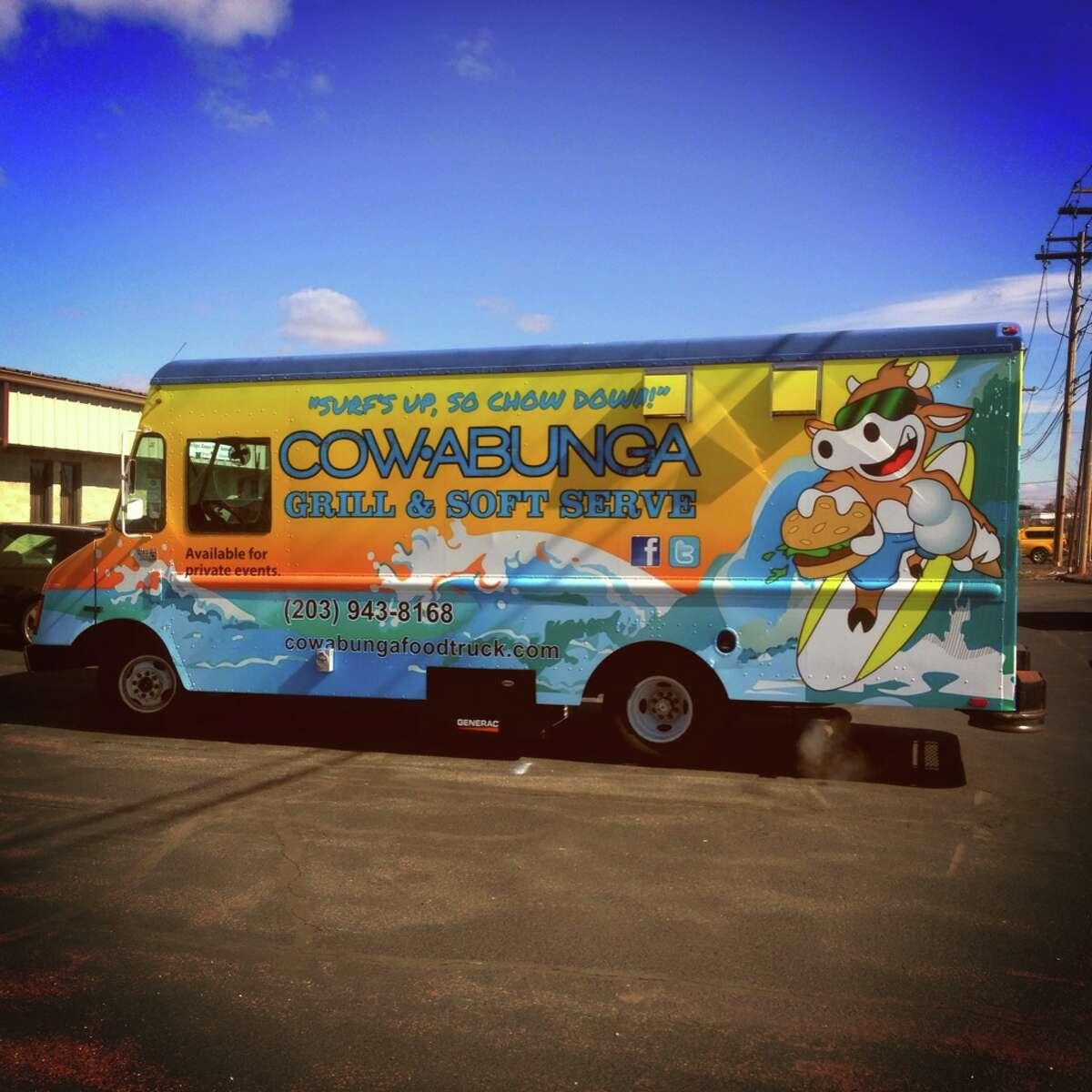 Cowabunga Food TruckThe Cowabunga Food Truck surfs around Fairfield County catering private parties.Favorite menu item: Grass-fed hamburger