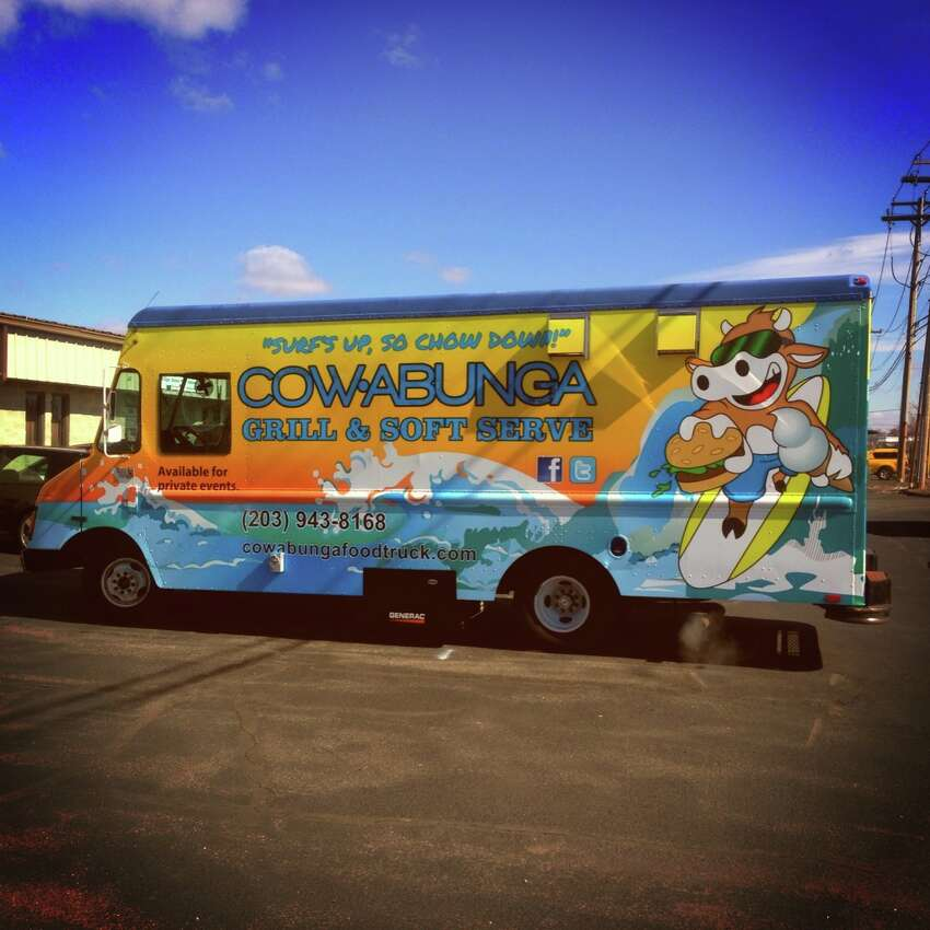 Cowabunga Food TruckThe Cowabunga Food Truck surfs around Fairfield County catering private parties.Favorite menu item: Grass-fed hamburger