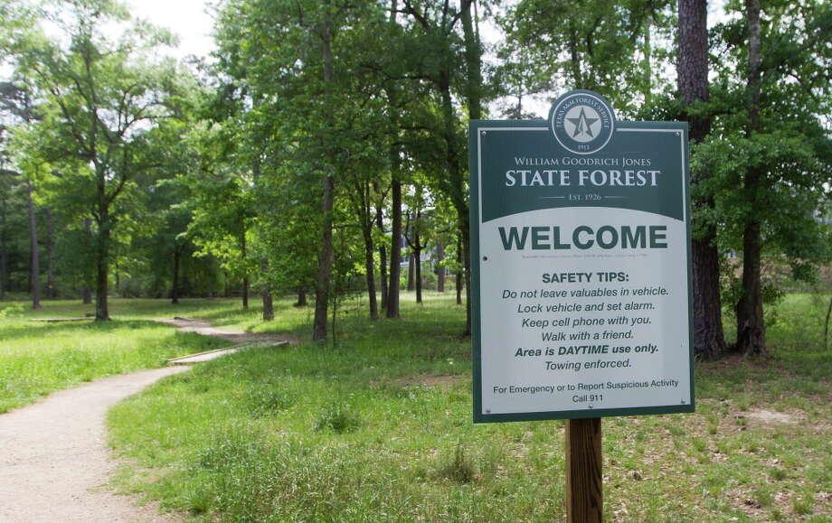 A sign designating the area of William Goodrich Jones State Forest. Photo: Jason Fochtman, Staff Photographer / © 2017 Houston Chronicle