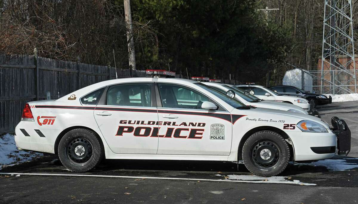 A fleet of Guilderland police patrol cars are parked next to the police station at Guilderland Town Hall on Friday, March 14, 2014 in Guilderland, N.Y. (Lori Van Buren / Times Union)