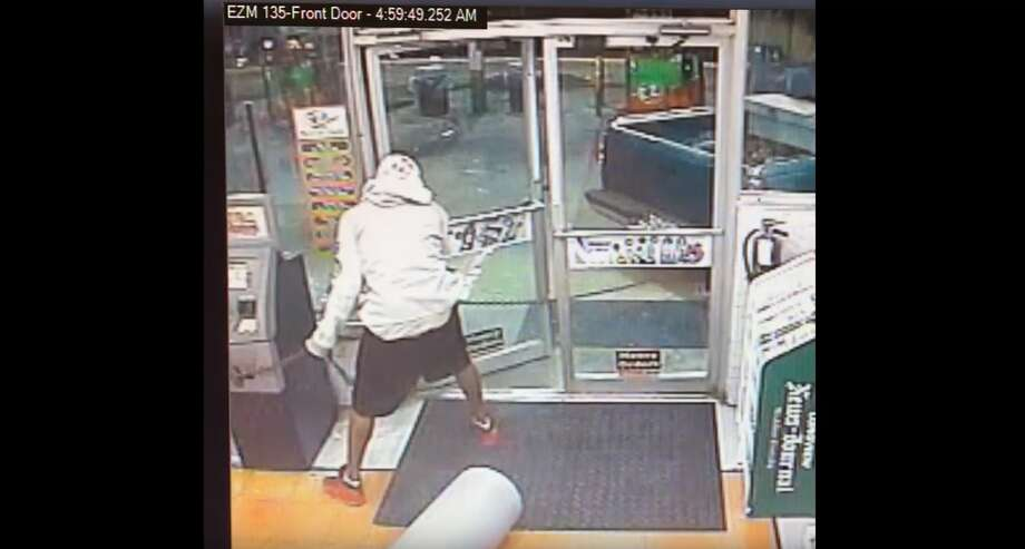 East Texas police are searching for two suspects caught on camera failing to rob an ATM machine.Click through to see the most shocking crimes of 2017.