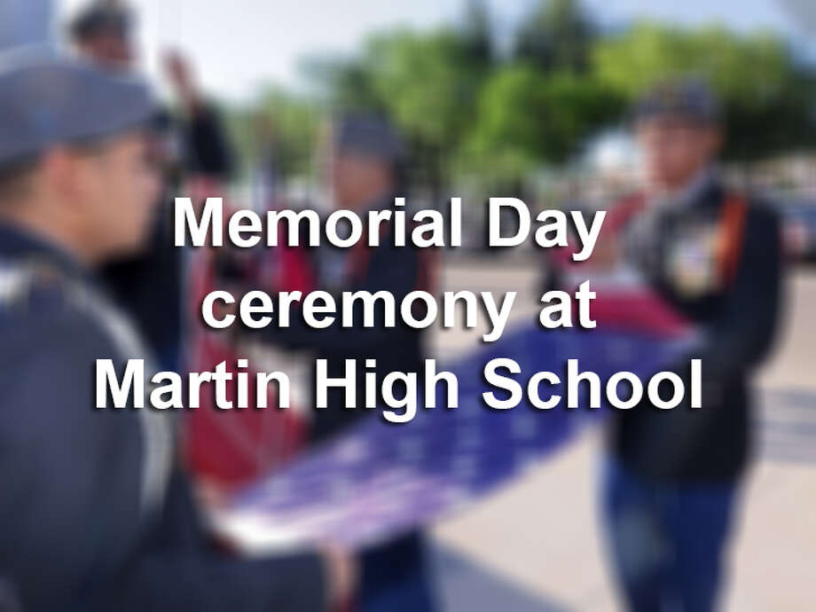 Keep cliking through this gallery to see photos of the Memorial Day ceremony at Martin High School in May 2017. Photo: LMTonline