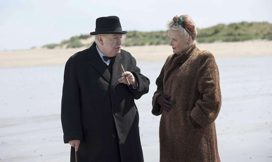 "Brian Cox plays the title role of the wartime prime minister in ""Churchill,"" with Miranda Richardson as his wife, Clementine. The film covers the days leading up to the D-Day invasion. Photo: Graeme Hunter PIctures, Cohen Media Group"