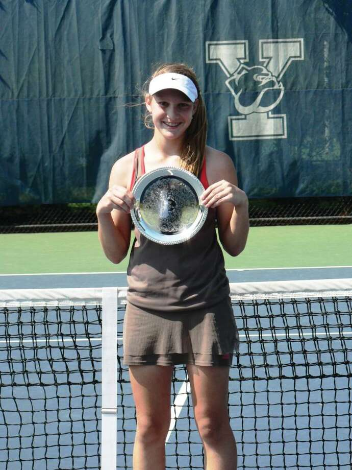 2010 FILE — New Canaan's Lexi Milunovich, then 12 years old, came in second at the USTA New England Open Tennis Championships. Photo: File Photo / New Canaan News