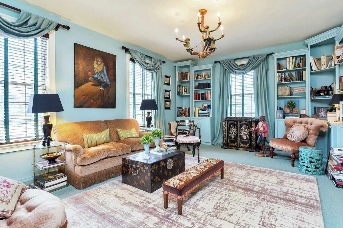 Interior design and paint color makes for memorable rooms at Hodge Manor, located at 280 Round Hill Road. The property was listed for sale by Halstead Property for $5.8 million. A total of 2,371 single-family homes were sold in Connecticut during the month of April.
