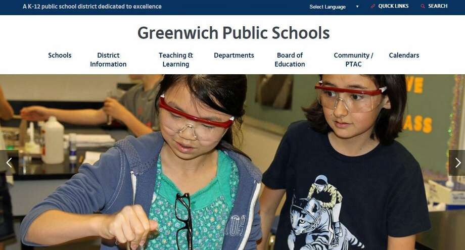 Greenwich Public Schools collected a 2016 Communications Award from the Connecticut Association of Boards of Education for its website, new in August 2016. Photo: Contributed