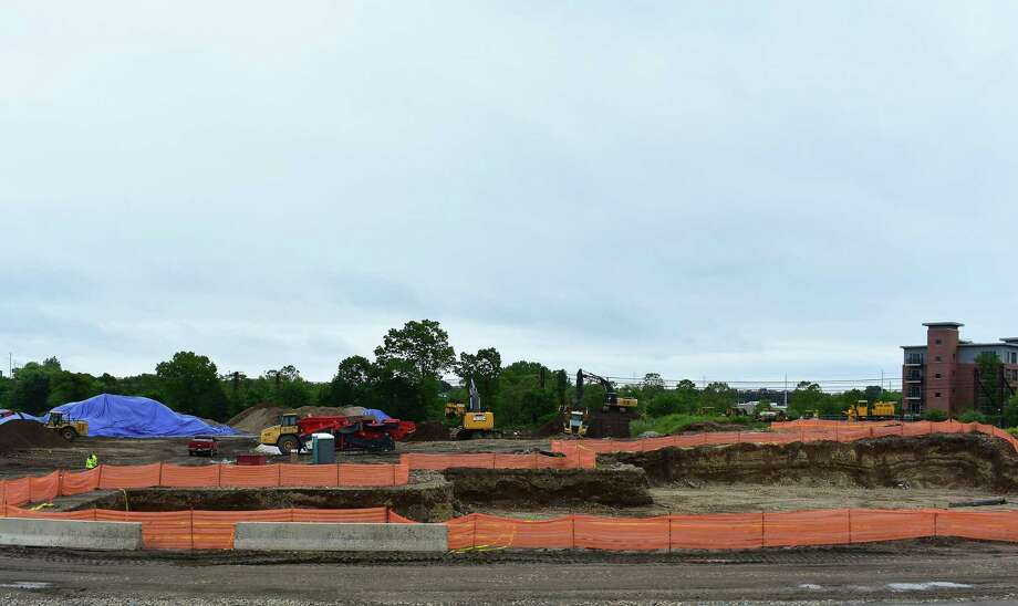 South Norwalk — Earth movers at work on Monday, May 29, 2017, at the site of the proposed SoNo Collection luxury mall in Norwalk, Conn. Under developer GGP, the SoNo Collection represents southwestern Connecticut's most ambitious retail development since the 1986 debut of the Danbury Fair mall. On Wednesday, May 31, GGP presented its latest plans for the SoNo Collection to the Norwalk Redevelopment Agency with updated floor plans and site layouts. Photo: Alexander Soule / Hearst Connecticut Media / Stamford Advocate