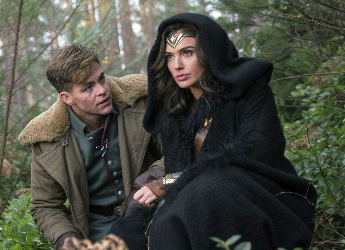 """""""Wonder Woman"""" features a multifaceted Diana (Gal Gadot, right), who displays kindness and compassion as well as fierce strength and fighting skills, not to mention some entertaining onscreen chemistry with Chris Pine, left, as Steve Trevor."""