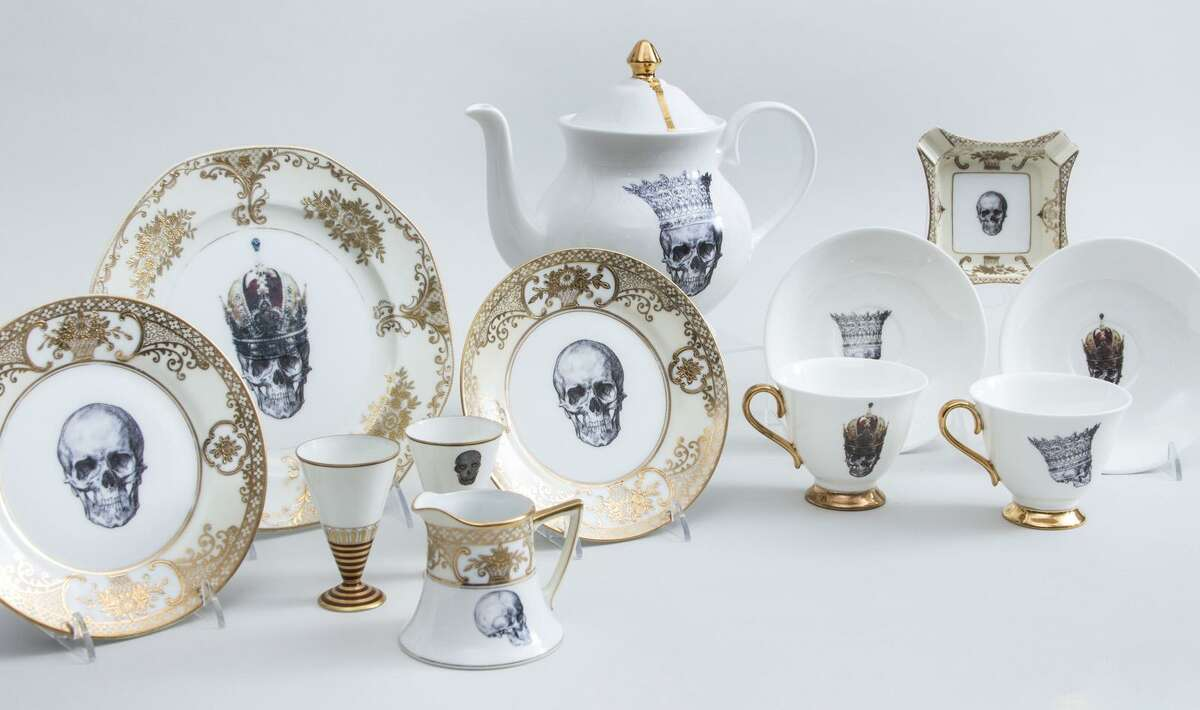 Legendary Rolling Stones guitarist Keith Richrads and his wife, Patti Hansen, are donating items from their upper East Side Manhattan apartment to benefit Ridgefield, Conn. nonprofits, to SPHERE of CT and Prospector Theater in Ridgefield, Conn., for the work they do with adults who have autism. One of the more unusual, Keith-inspired items is skull-motif, china tea set. On teacups, saucers and the teapot there is the image of a skull wearing a royal crown.