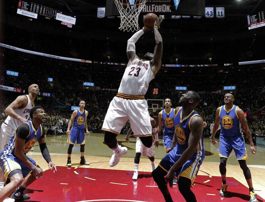 Lebron James (23) shoots in the second half as the Golden State Warriors played the Cleveland Cavaliers in Game 6 of the NBA Finals at Quicken Loans Arena in Cleveland, Ohio, on Thursday, June 16, 2016. Photo: Carlos Avila Gonzalez / The Chronicle / ONLINE_YES