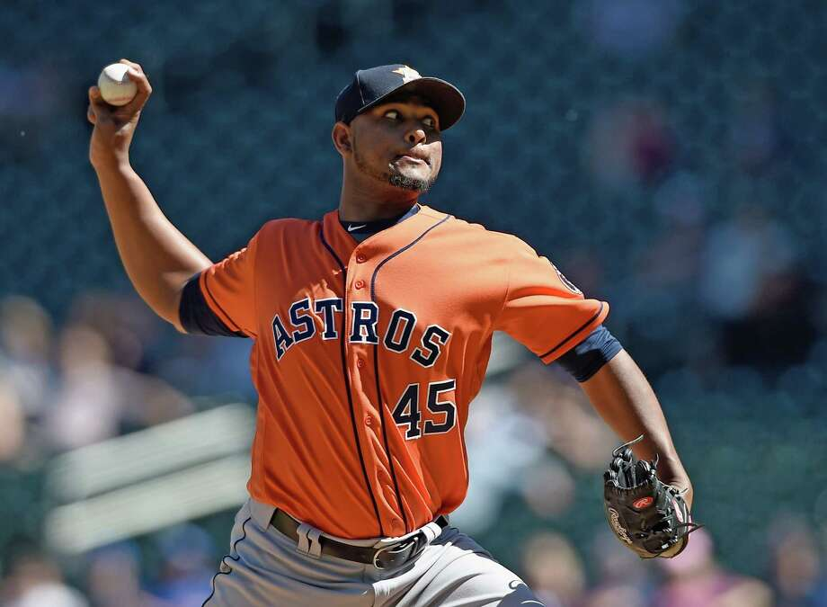 MINNEAPOLIS, MN - MAY 31: Michael Feliz #45 of the Houston Astros delivers a pitch against the Minnesota Twins during the ninth inning of the game on May 31, 2017 at Target Field in Minneapolis, Minnesota. The Astros defeated the Twins 17-6. Photo: Hannah Foslien, Getty Images / 2017 Getty Images
