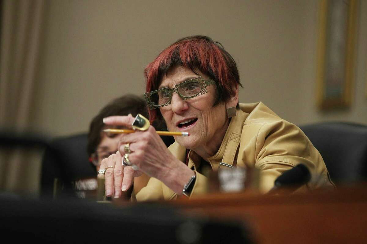 U.S. Rep. Rosa DeLauro, D-Conn., speaks during a hearing before the Labor, Health and Human Services, Education and Related Agencies Subcommittee of the House Appropriations Committee May 24, 2017 on Capitol Hill in Washington, D.C.