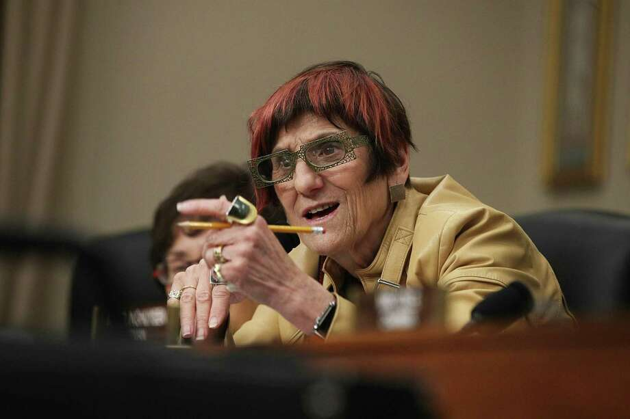U.S. Rep. Rosa DeLauro, D-Conn., speaks during a hearing before the Labor, Health and Human Services, Education and Related Agencies Subcommittee of the House Appropriations Committee May 24, 2017 on Capitol Hill in Washington, D.C. Photo: Alex Wong / Getty Images / 2017 Getty Images