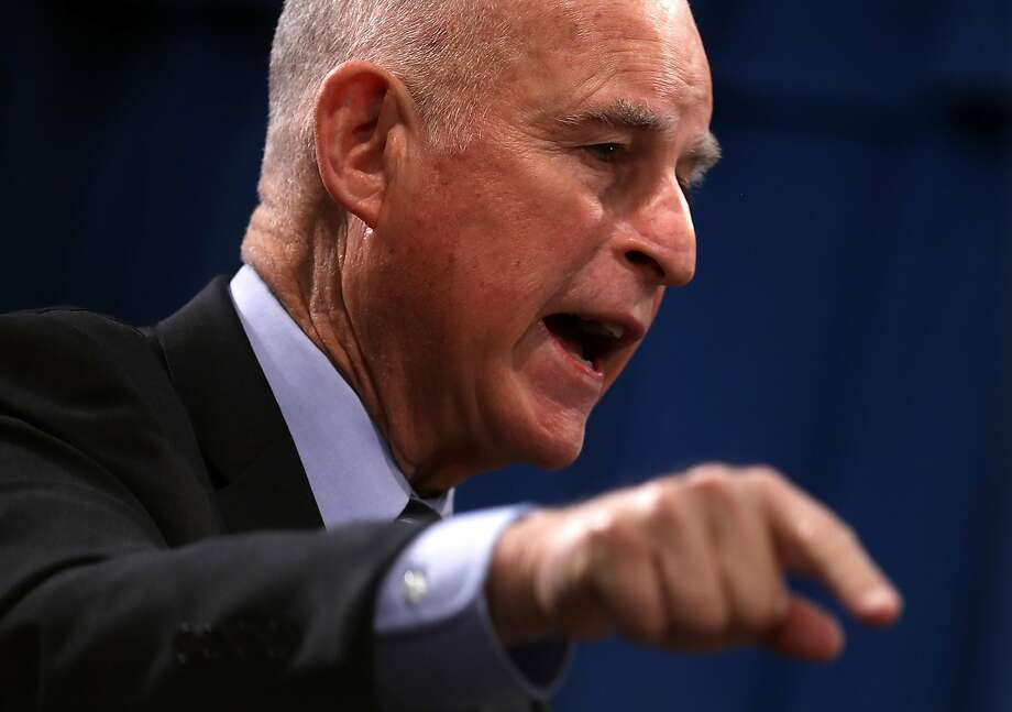 Gov. Jerry Brown is at front and center of the world stage. Photo: Justin Sullivan, Getty Images