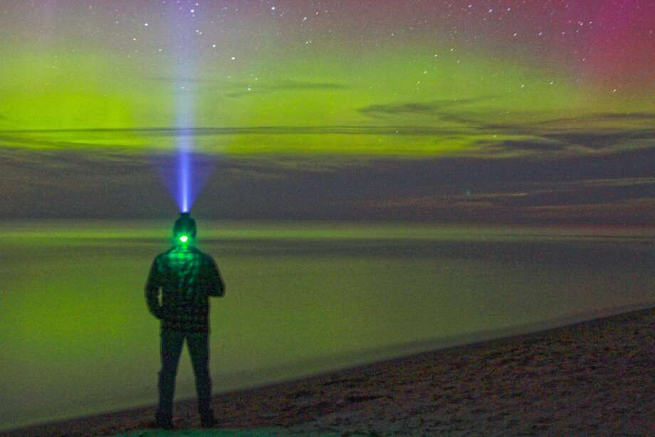 Northern Lights on Oak Beach Photo: Massive Meme, Coulter Mitchell/For The Tribune