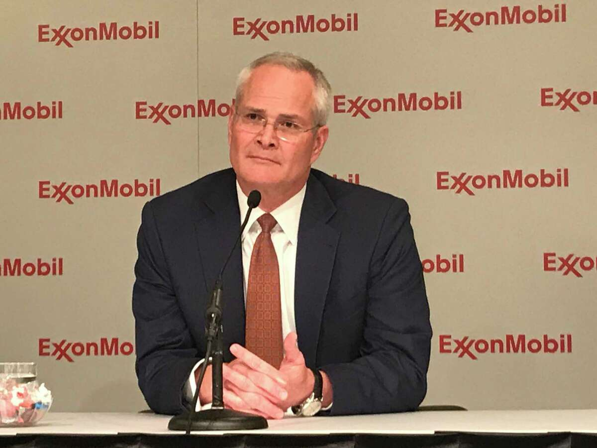 Exxon CEO Darren Wood presides over his first annual shareholder meeting on Wednesday, May 31, 2017, in Dallas. He took the helm after Rex Tillerson became secretary of state. CONTINUE to see recent energy company earnings.