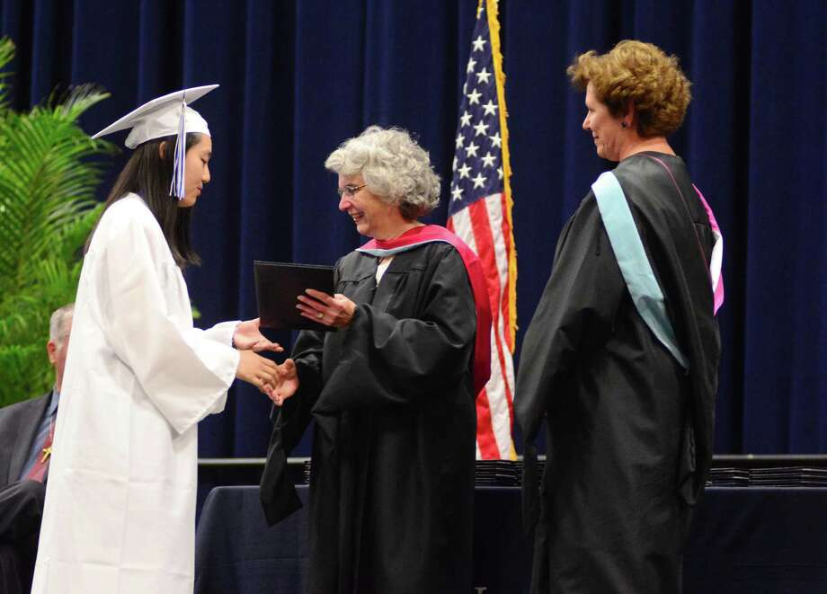 Immaculate High Schools Graduation Excercises took place at Western Connecticut State Universities O'Neill Center on Wednesday May, 31, 2017. Photo: Lisa Weir, For Hearst Connecticut Media / The News-Times Freelance