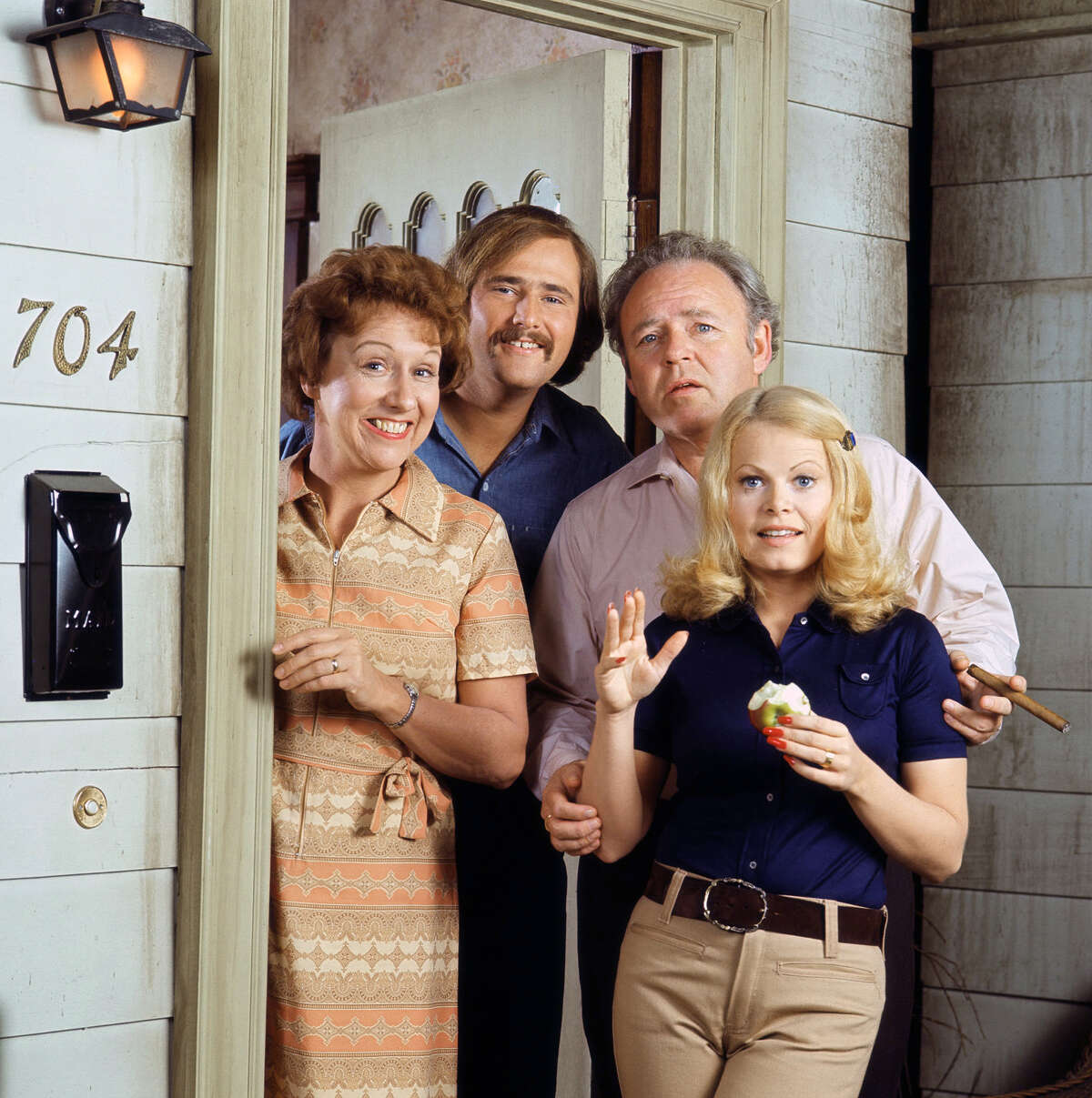 Jean Stapleton, Rob Reiner, Carroll O'Connor and Sally Struthers,