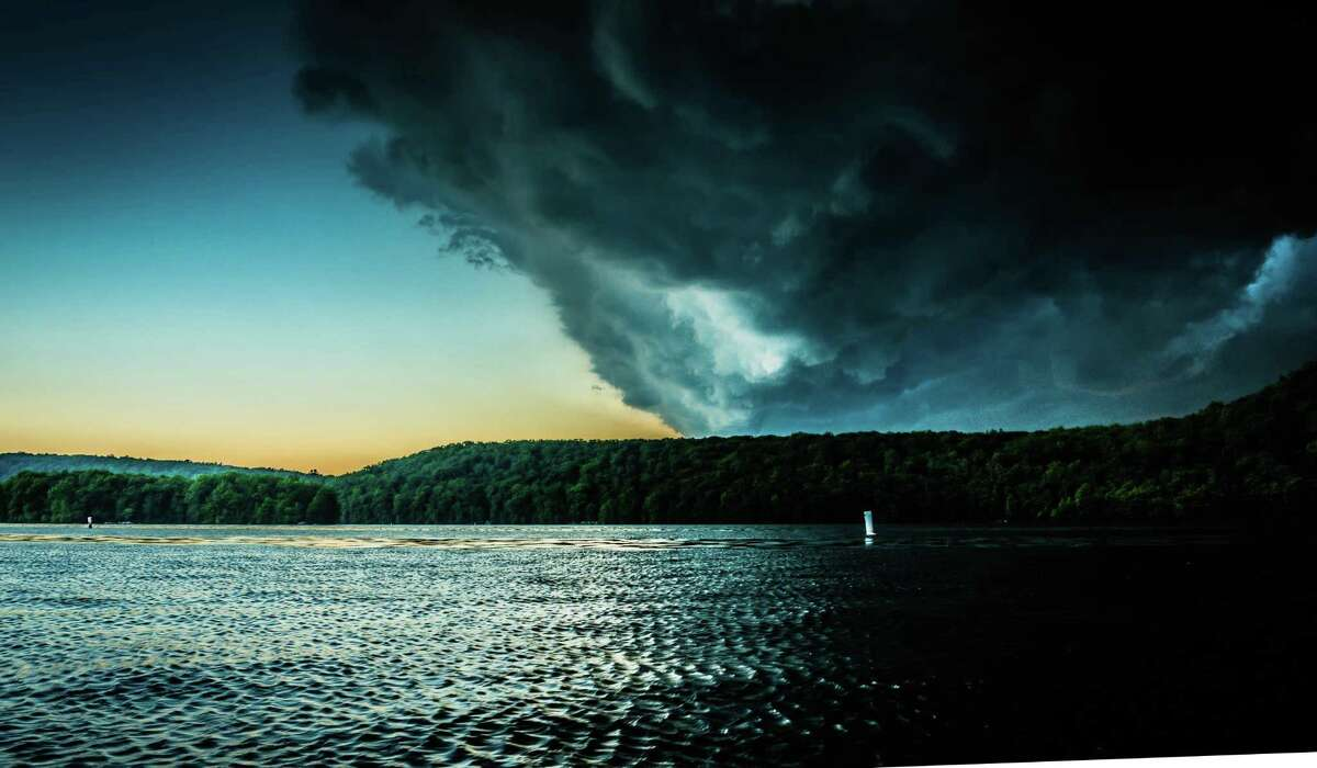 A reader-submitted photo of Candlewood Lake, Conn., near Gerard's Marina, captures a storm that passed over the region Wednesday night, May 31, 2017.