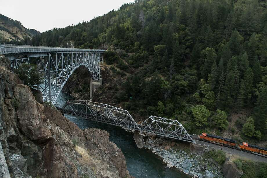 A drive along Highway 70 goes across the Pulga Bridges above the Feather River Canyon and the North Fork of the river in Butte County. Photo: Paul Kuroda, Special To The Chronicle