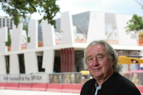 Architect Steven Holl poses for a photo at the construction site of the Glassell School of Art, one of two buildings he has designed for the  Museum of Fine Arts, Houston's campus extension project Friday, May 19, 2017, in Houston. ( Yi-Chin Lee / Houston Chronicle )