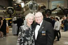 Peg and Elmer Longnecker at the Lone Star Flight Museum gala.