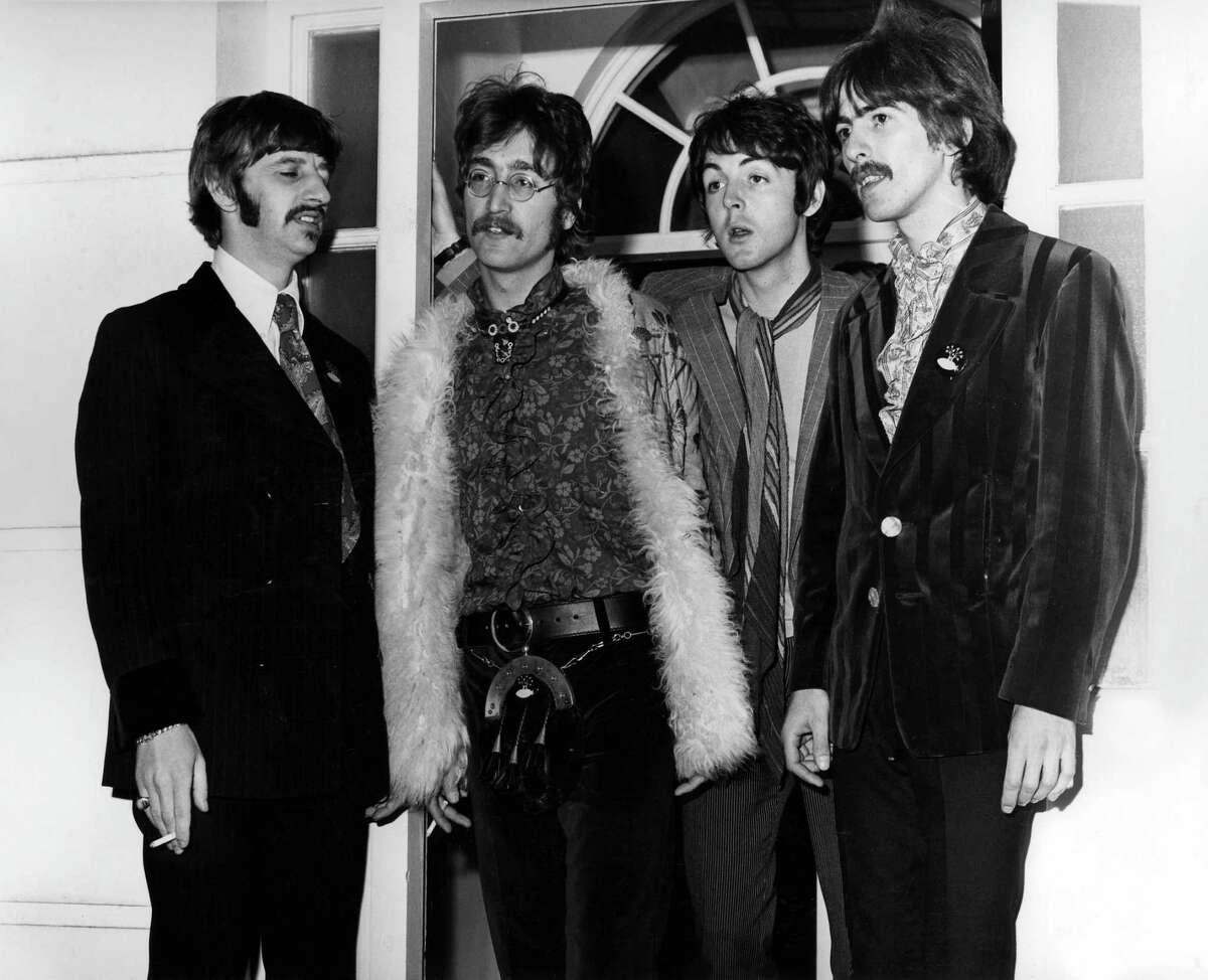 Ringo Starr, John Lennon, Paul McCartney and George Harrison posed for a group shot for the 1967