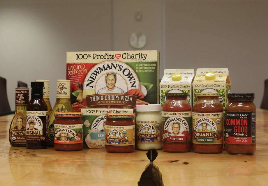 Westport-based Newman's Own donates 100 percent of its profits — from products such as pasta sauce and salad dressing — to charity. Photo: Laura Weiss / Hearst Connecticut Media / Westport News