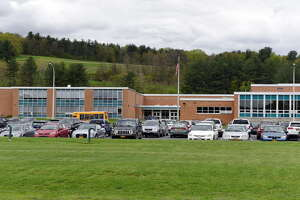 Exterior of Hoosick Falls High School on Wednesday, May, 10, 2017, in Hoosick Falls, N.Y. (Will Waldron/Times Union)