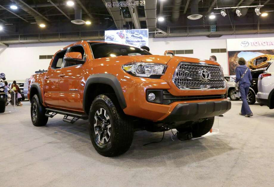 File photo of a 2016 Toyota Tacoma. Toyota saw year-over-year sales of its Tundra and Tacoma pickup trucks rise by at least 4 percent in June as Americans still love their trucks. Photo: Jon Shapley /Houston Chronicle / © 2015  Houston Chronicle