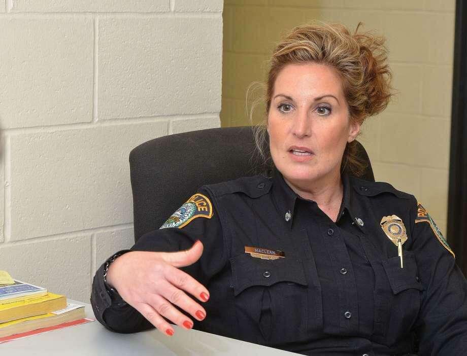 Officer Diane MacLean Photo: Alex Von Kleydorff / Hearst Connecticut Media