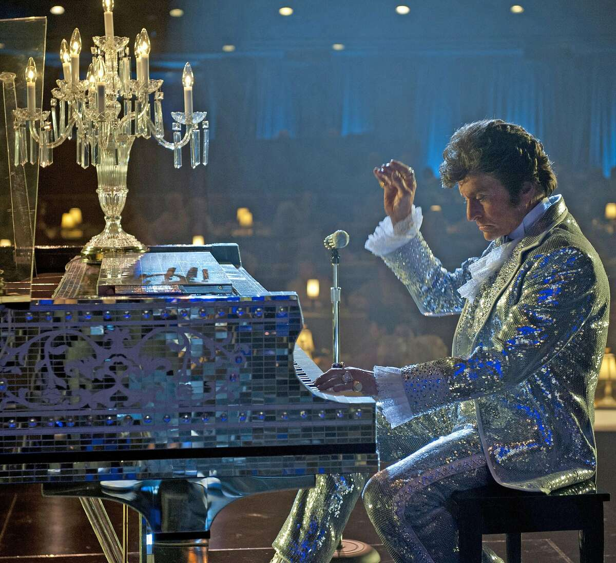 """Michael Douglas plays showman Liberace in """"Behind the Candelabra,"""" premiering Sunday on HBO. (MCT)"""