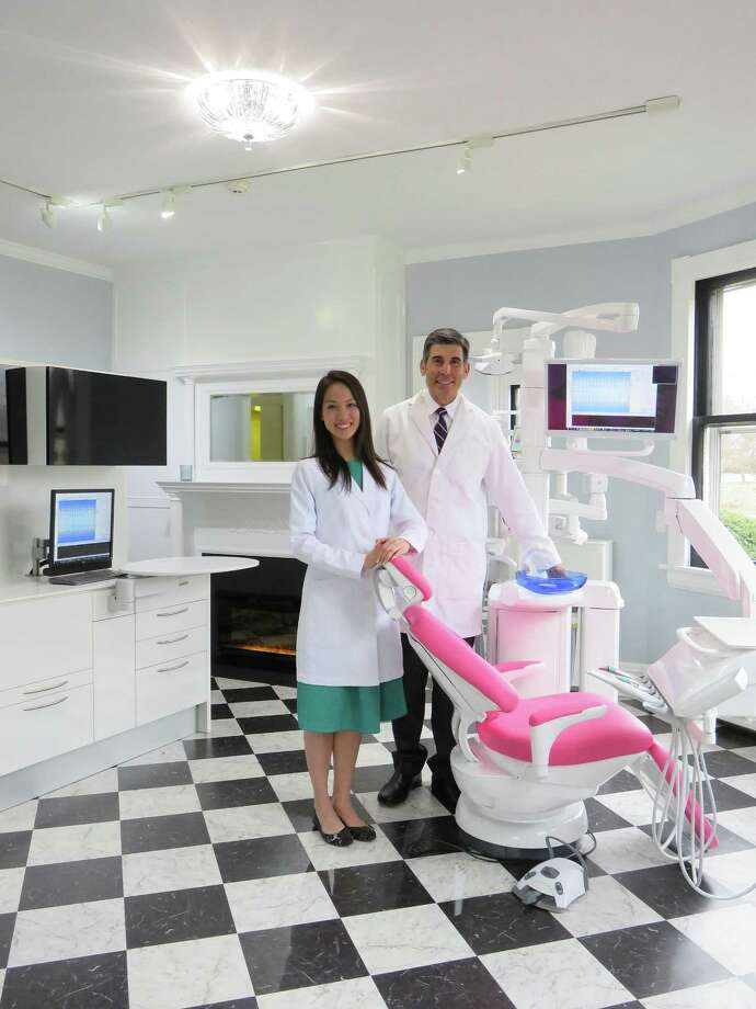 Associate Dr. Viviane Trinh and Dr. James T. Aris at Wilton Center Family Dentistry, 436 Danbury Road in Wilton. Photo: Annie Kosh / Contributed Photo
